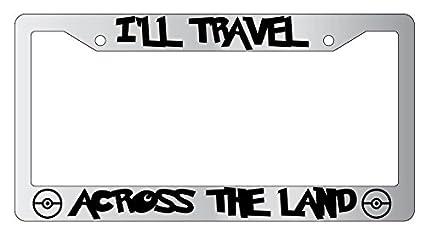 Wrap Black METAL License Plate Frame Mischief Managed