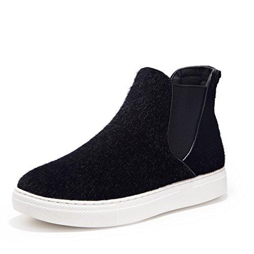 Primavera e invierno zapatos/ cabeza redonda Europea y americana de zapatos de las mujeres/ zapatos de color sólido conjuntos de pie A
