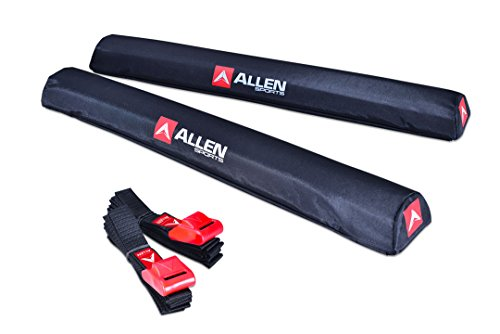 - Allen Sports 24 inch Aero Roof Rack Pads with 8 ft Straps Set for Surfboards SUP Snowboard