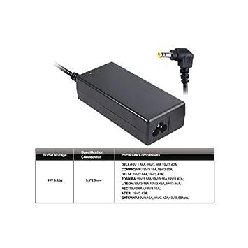 Advance CHG-080S - Cargador universal para ordenador portátil (80 W, 19 V), color negro: Amazon.es: Informática