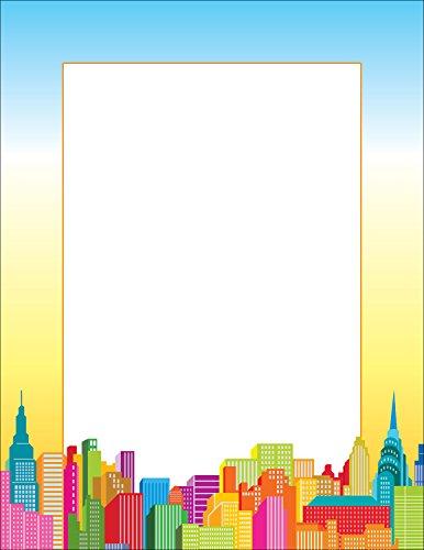 Scholastic Teacher's Friend City Skyline Printer Paper, Multiple Colors (TF3610) by Scholastic