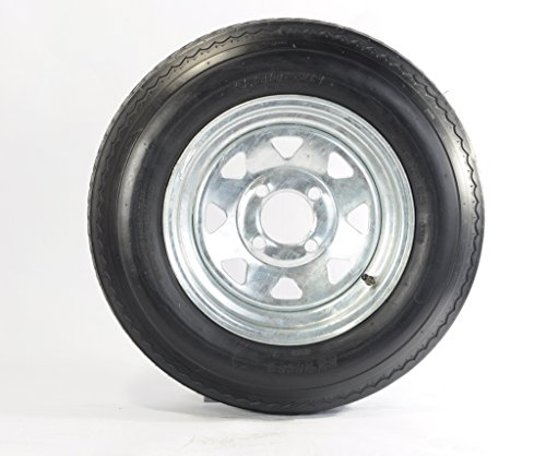 Trailer Tire On Rim 5.30-12 530-12 5.30X12 12 in. 4 Lug Wheel Galvanized Spoke