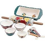 Amazon Com The Pioneer Woman Dazzling Dahlias 20 Piece Kitchen Gadget Set Kitchen Dining