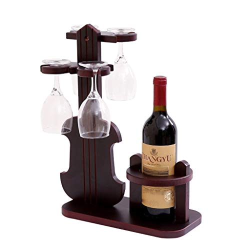 Goblet Place Card Holders - Tabletop Wine Racks Wine Rack Wine Glass Holder Goblet Rack Upside Down Wine Glass Rack Wine Bottle Rack Wine Rack Decoration Home Collection (Color : Brown, Size : 334218cm)