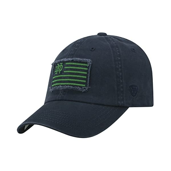 new concept d71bb 2bff8 ... Notre Dame Fighting Irish Official NCAA Adjustable Flag 4 Hat Cap  Curved Bill by 419541. Free Shipping Free Shipping