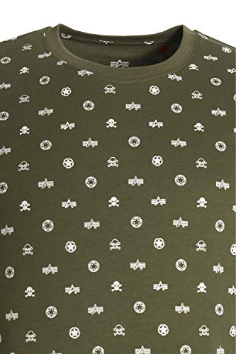 T shirt All Olive Over Dark Print Alpha Industries B1IxvO
