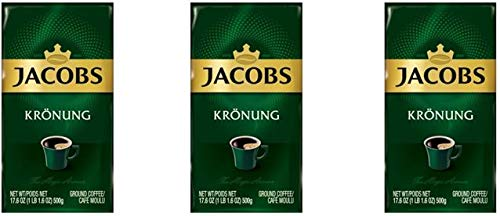Jacobs Kronung Ground Coffee 500 Gram / 17.6 Ounce (Pack of 3) by JACOBS