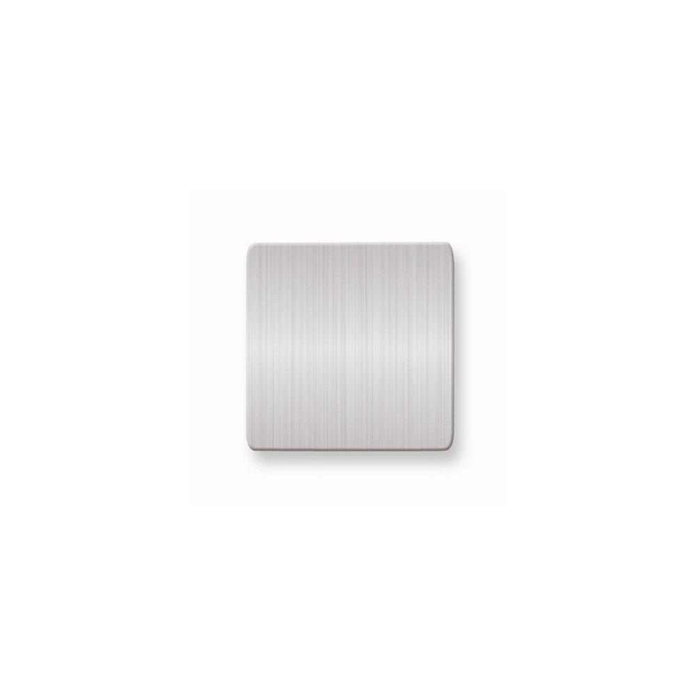 1 x 1 Square Satin Alum Plates-Sets of 6