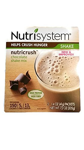 Nutrisystem Nutricrush Chocolate Shake Mix New   Improved 1 4 Oz  5 Count  Pack Of 2