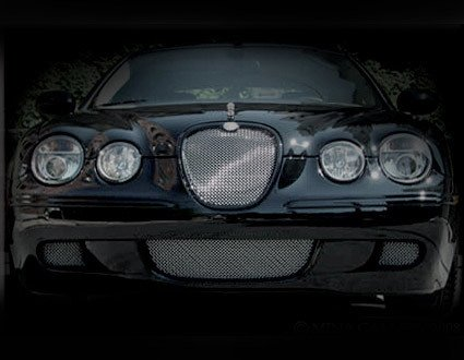 3 Pcs Lower Bumper Mesh Grille Finisher Overlay for Jaguar S-Type 2008 -