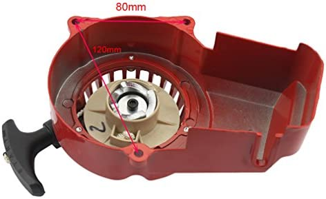 GOOFIT Alloy Pull Start Recoil Starter for 2 Stroke 47cc 49cc Pocket Dirt Bike Mini ATV Red