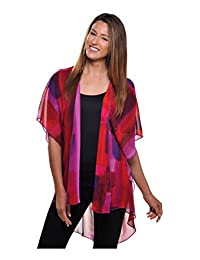 Nygard Women's Plus Size Slims Kimono Top Orchid Comb.