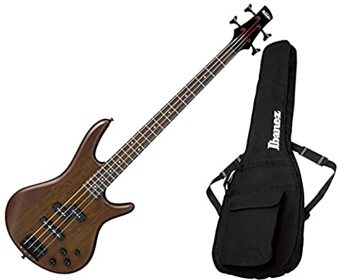Ibanez GSR200BWNF 4-String Electric Bass Walunt Flat Finish with Gig Bag (Bass Gig Bag Ibanez)