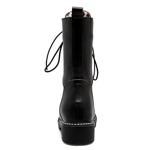 RAZAMAZA Women Boots Lace Up Black-H K8qJ60jFQ