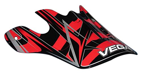 Vega Mojave Off-Road Helmet Replacement Visor with Blade Graphic (Red)