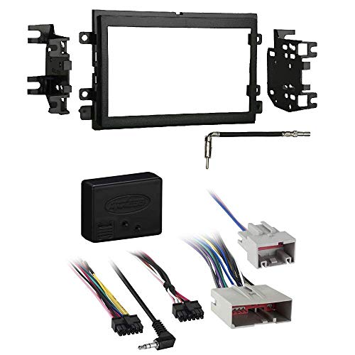 Metra 95-5812 Double DIN Installation Kit for 2004-11 Ford/Lincoln Vehicles XSVI-5520-NAV Aftermarket Radio Replacement Can-Bus Car Stereo Wiring Interface ()