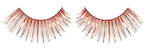 Zinkcolor Silver Foil Red False Eyelashes C009 Dance Halloween -