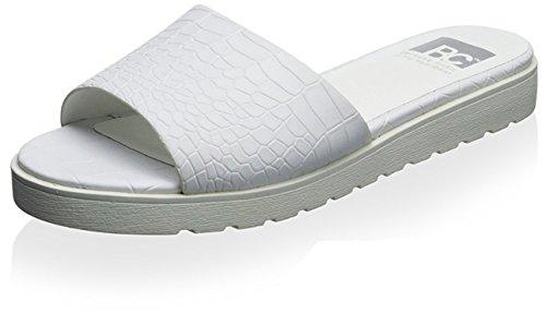 BC Footwear Womens Inspiration Platform Sandal White Croco Y2vr06rhS