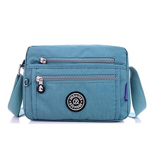 de Messenger Bolsos Bolsas Bag Escolares Bolsos Viaje Azul Mujer Sport Bolsos de One Bandolera Bolsa Mano Grandes MeCooler Impermeable para de Baratos Bolso Moda qTvv6U4