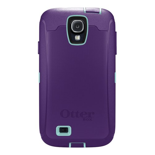 OtterBox Defender Series Case and Holster for Samsung Galaxy S4 - Carrier Packaging - Purple/Blue ()