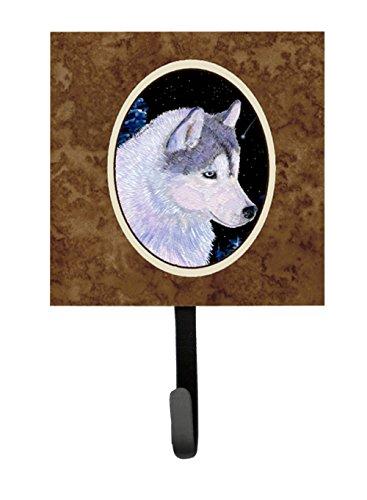 Caroline's Treasures SS8617SH4 Siberian Husky Leash Holder or Key Hook, Small, Multicolor - Siberian Husky Leash Holder