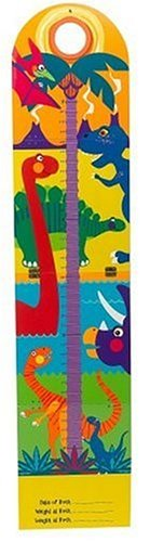 Prehistoric Friends Growth Chart (Hand Painted Wooden Growth Charts)