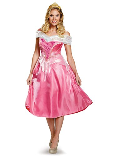 Disney Disguise Women's Aurora Deluxe Adult Costume, Pink, Small
