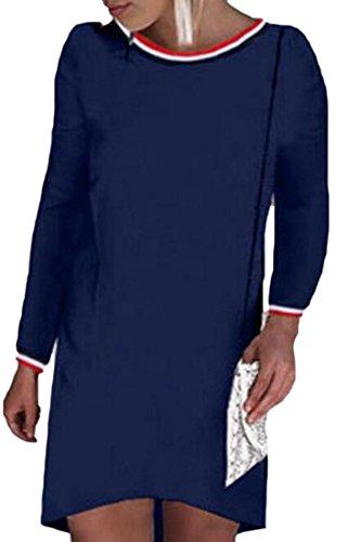 Jaycargogo Des Femmes De Manches Longues Casual Sexy Mince O-cou Clubwear Robe Midi 1