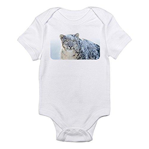 Royal Lion Infant Bodysuit Snow Leopard HD - Cloud White, 6 to 12 Months