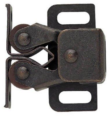 Brainerd Mfg Co/Liberty Hdw C08820L-STB-U Cabinet Catch, Double Roller With Spear Strike, Bronze, 2-Pk. - Quantity 5