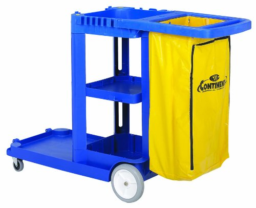 (Continental 184BL, Blue Standard Janitorial Cart (Case of 1))