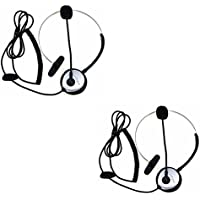 abcGoodefg® Call Center Hands-Free Headset Headphone Desk Telephone Monaural Mic Mircrophone Noice Cancelling Silver
