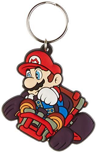 Mario Kart Keychain - Pyramid International Mario Kart Mario Drift Rubber Keychain, Multi-colour, 4.5