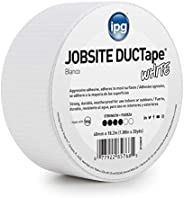 "IPG JobSite DUCTape, Colored Duct Tape, 1.88"" x 20 yd, White  (Single"