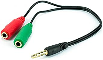 Cabo Adaptador P3 Macho para 2 P2 Fêmea - Fone e Microfone para Headset