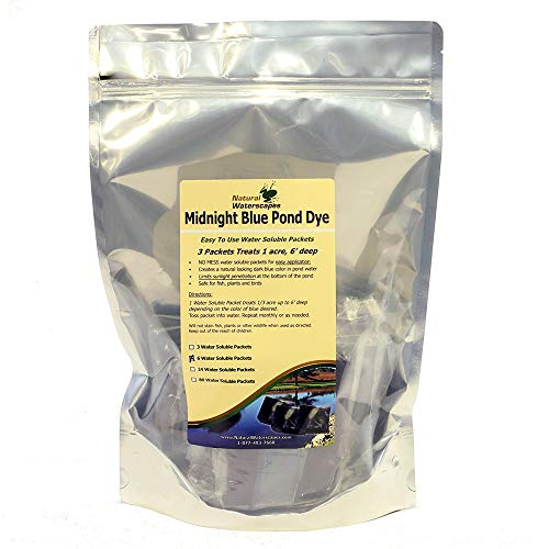 (Midnight Blue Pond Dye Packets - 6 Water Soluble Packs )