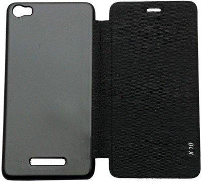 buy popular b0058 0ddb0 Ascari Flip cover for Lava Iris X10 case cover BLACK: Amazon.in ...