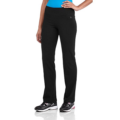 Danskin Now Semi-Fitted Straight Leg Yoga Workout Pants (Regular & Petite) (XX-Large, Black) Danskin Straight Leg Pants