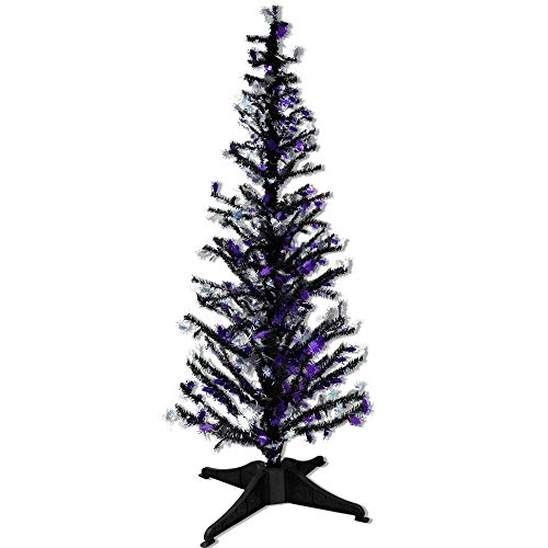 YuQi 5 Ft Pop UP Artificial Tinsel Trees Collapsible with Stand, 50%,Reusable for Halloween,Party,Next New Year,Wedding, Seasonal Home Décor & Party (Spider)