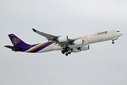Hogan Wings 1-200 Commercial Models HG0342G 1-200 Thai A340-500 with Gear REG No.TS-TLD