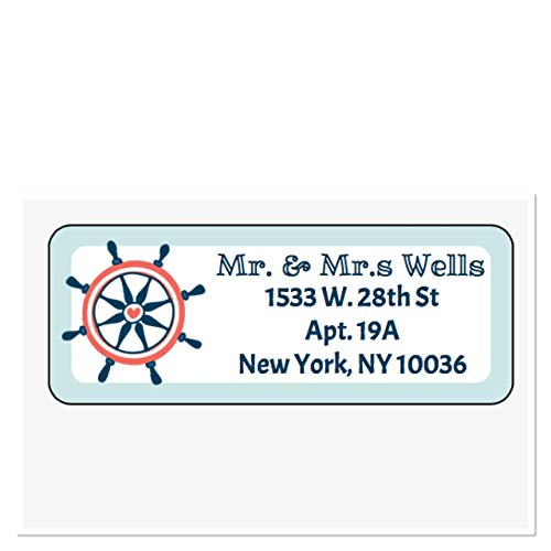 Engagement Address Labels - Personalized Address Labels, Nautical Beach Theme Set Of 30, Personalized Wedding Address Labels, Engagement Labels, Bridal Labels