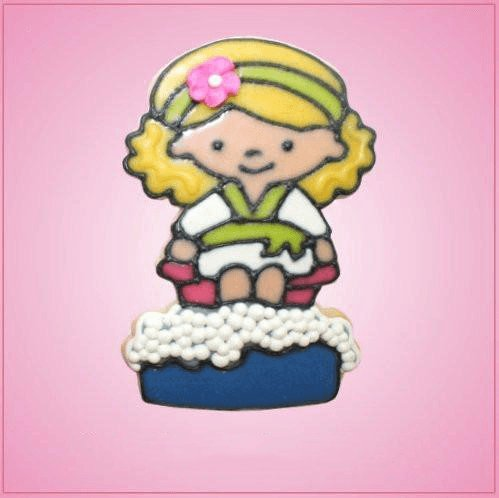 Pink Felicia The Foot Tub Spa Girl Cookie Cutter