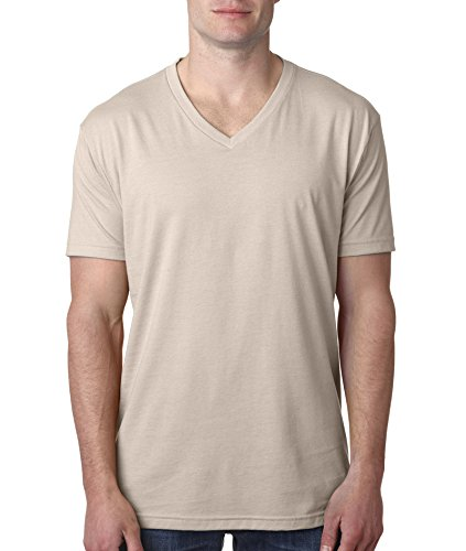 picture of 6240 Next Level Men's Premium CVC V (Sand) (M)