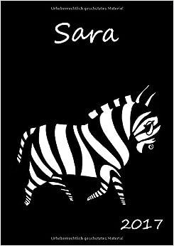 Book Kalender 2017 - Sara: DIN A5, 1 Woche pro Doppelseite