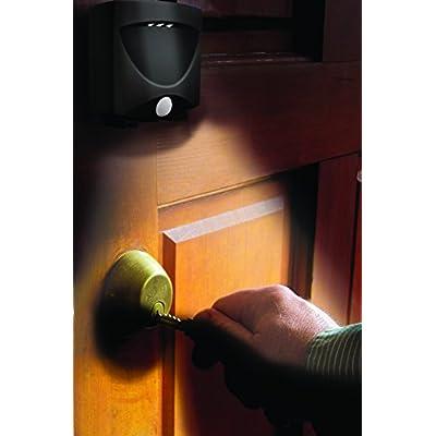 MAXSA 43342 Motion Activated Weatherproof Indoor / Outdoor Wireless LED Night Light, (3-Pack) Dark Bronze: Automotive