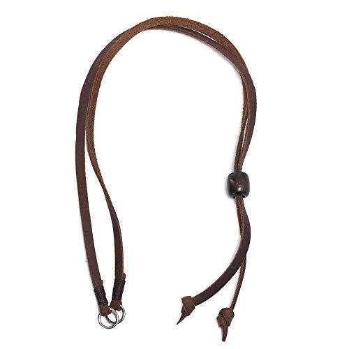 - Ultrafino Australian Leather Chin Strap for Panama Straw Hats Brown