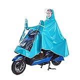 VORCOOL Motorcycle Raincoat Cover Large Windproof Waterproof Motorcycle Scooter Rain Hoodie Coat Cape Poncho Rainwear Full Protection