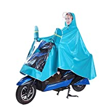 VORCOOL Impermeable a prueba de viento Motocicleta Scooter Impermeable Chaqueta con capucha de lluvia Hombres Mujeres Chaqueta de ciclismo Poncho Impermeable Capa con doble sombrero Espejo Impermeable - Talla XXXL