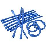 Bigodim Circular Número 1 com 12, Hair Bonitinho, Azul