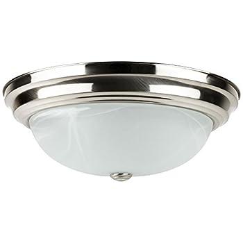 Sunlite LFX/DBN13/AL/E/D/30K 20-watt 120-volt Energy Star Dimmable LED Decorative Dome Style Fixture, 13-Inch, Brushed Nickel Finish